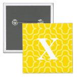 Ornate Contemporary Monogram - Letter X Pinback Button