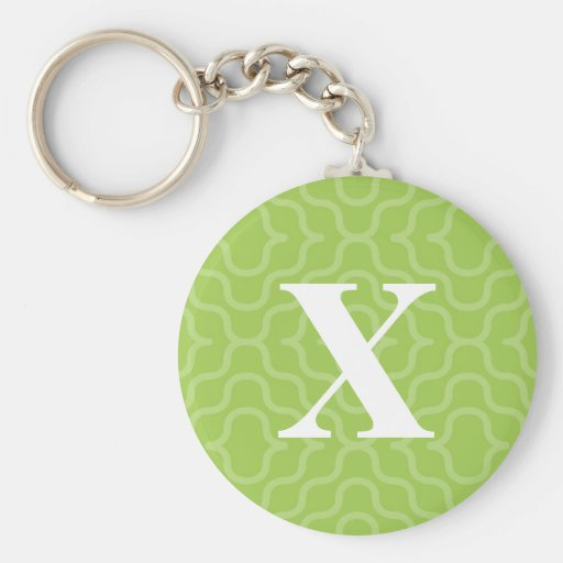 Ornate Contemporary Monogram - Letter X Keychains