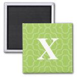 Ornate Contemporary Monogram - Letter X Fridge Magnet