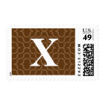 Ornate Contemporary Monogram - Letter X Postage Stamps
