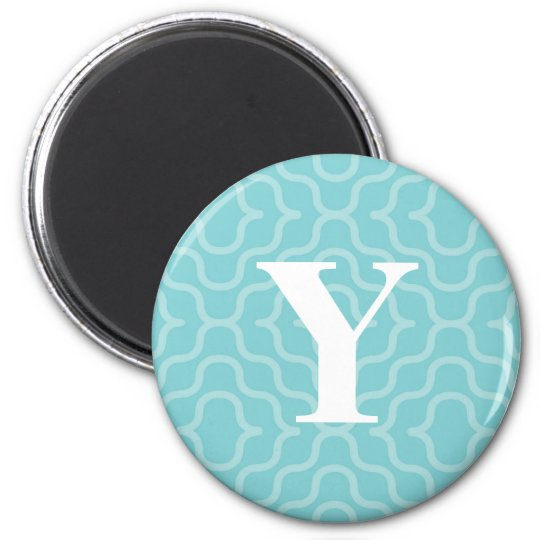 Ornate Contemporary Monogram - Letter Y Magnet
