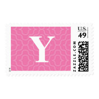 Ornate Contemporary Monogram - Letter Y Postage