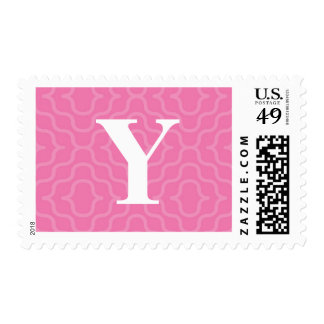 Ornate Contemporary Monogram - Letter Y Postage Stamp