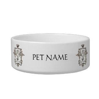 Ornate crest pet bowl