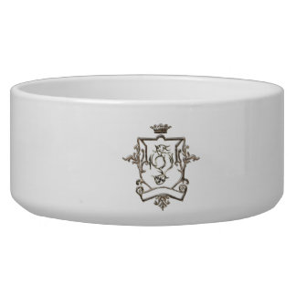 Ornate crest pet bowl