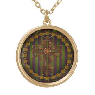 Ornate Cross Mandala Pendant by Rachel C. Bemis