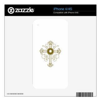 ORNATE CROSS DECALS FOR THE iPhone 4