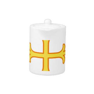 Ornate Cross Teapot