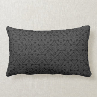 Ornate damask decorative black gray stylish throw pillows