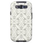 Ornate damask decorative gray cream Galaxy case Samsung Galaxy S3 Covers