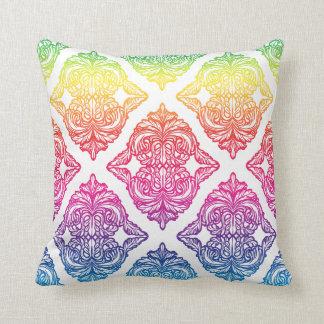 Ornate Damask Spectrum Pillows