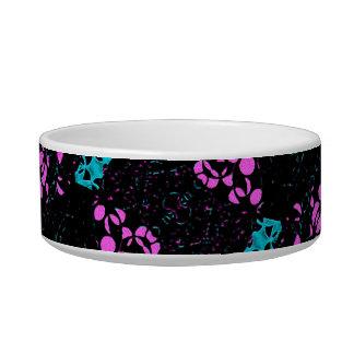 Ornate Dark Pattern Cat Water Bowl