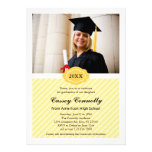 Ornate Date Modern Photo Graduation Invitation