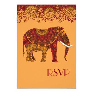 Ornate Decorated Indian Elephant Design Card