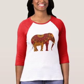 Ornate Decorated Indian Elephant Design T-Shirt
