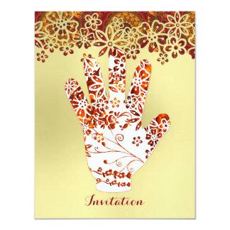 Ornate Decorated Mehndi Henna Hand Design Card