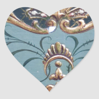 Ornate Design Heart Sticker