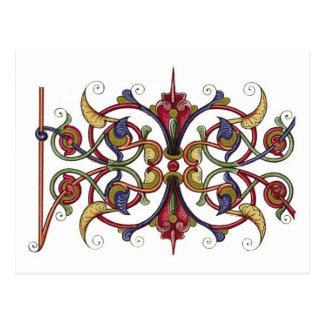 Ornate design postcard