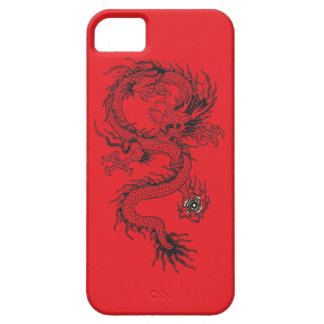 Ornate Dragon on Red iPhone 5 Covers