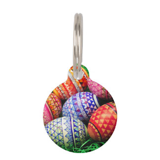 Ornate Easter Eggs Pet ID Tag