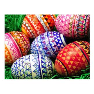 Ornate Easter Eggs Postcard