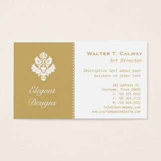 Ornate Elements (almond) Business Card