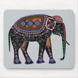 Ornate Elephant Mouse Pad
