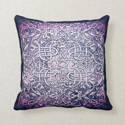 Ornate Embossed Celtic Knot Throw Pillow