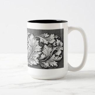 Ornate Engraved Acanthus Leaf Mug