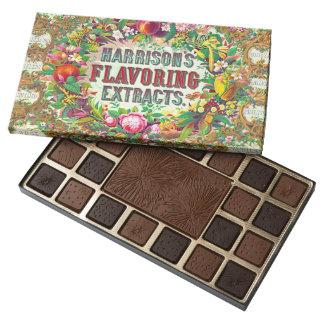 Ornate Extract Advertisement 1853 45 Piece Box Of Chocolates