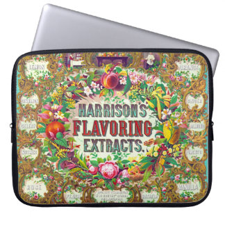 Ornate Extract Advertisement 1853 Laptop Sleeves