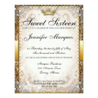 16th birthday invitations announcements zazzle ornate fairytale storybook sweet sixteen invites filmwisefo Image collections