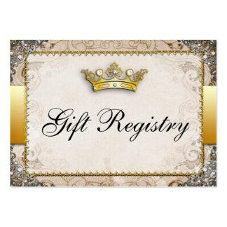 Ornate Fairytale Storybook Wedding  Gift Registry Large Business Card