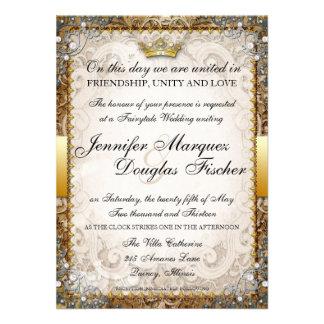 Ornate Fairytale Storybook Wedding Invitation
