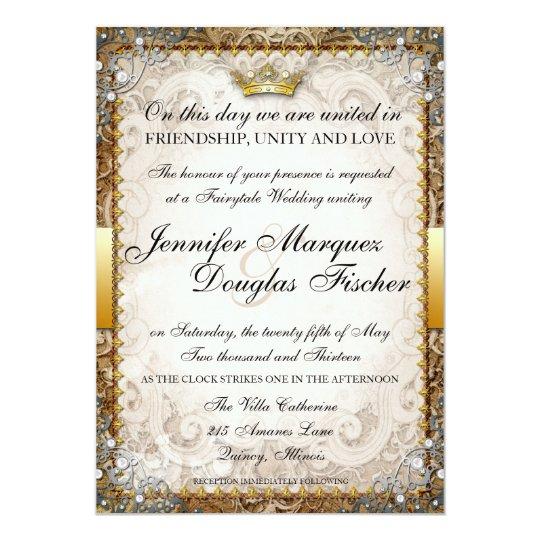 Fairytale Invitations Wedding: Ornate Fairytale Storybook Wedding Invitation