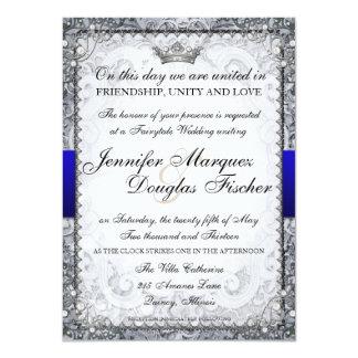 Ornate Fairytale Storybook Wedding Invitation Grey
