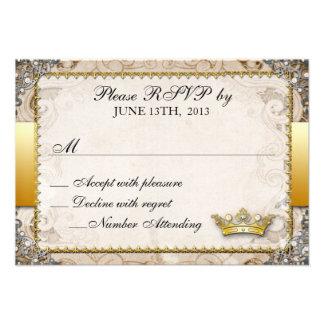Ornate Fairytale Storybook Wedding RSVP Invitations