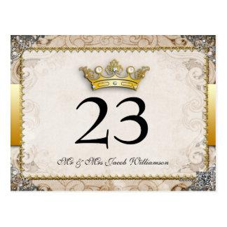 Ornate Fairytale Wedding Table Number Cards Postcard