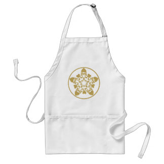 Ornate Filigree Yule Star With Hearts Apron