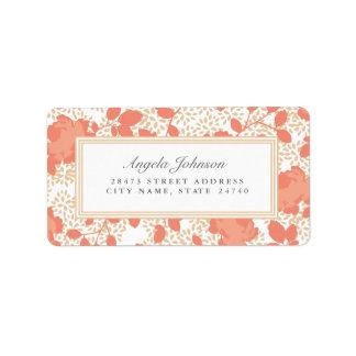 Ornate Floral Address Labels