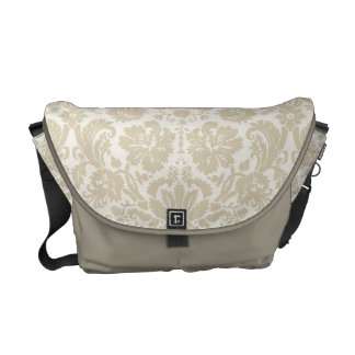 Ornate floral art nouveau pattern 2 beige courier bag