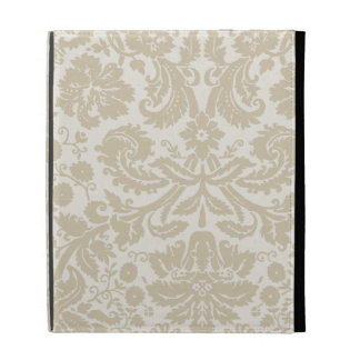 Ornate floral art nouveau pattern beige iPad folio covers
