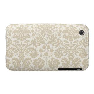 Ornate floral art nouveau pattern beige iPhone 3 cover