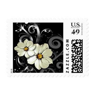 Ornate Floral Flourish   black Stamps
