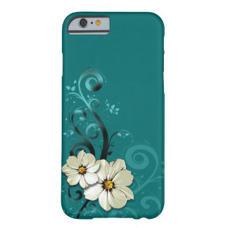 Ornate Floral Flourish | turquoise Barely There iPhone 6 Case