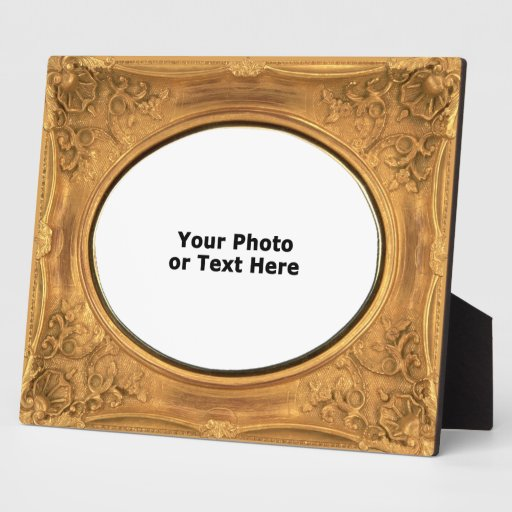 Ornate Floral Gilded Oval Opening 8x10 frame Plaque