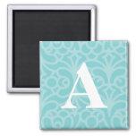 Ornate Floral Monogram - Letter A Refrigerator Magnet