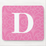 Ornate Floral Monogram - Letter D Mouse Pad