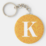 Ornate Floral Monogram - Letter K Key Chains