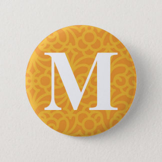 Ornate Floral Monogram - Letter M Button